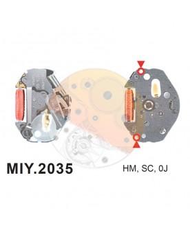 Movimiento Miyota 2035 Bandeja 100 Unidades