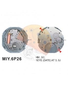Movimiento Miyota 6P26 Equivalente 6P76