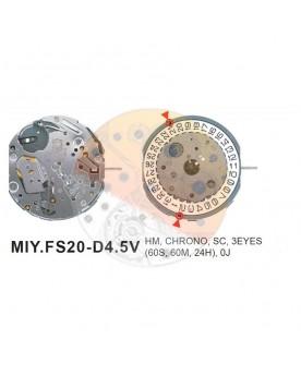 Movimiento Miyota FS20 Equivalente FS23