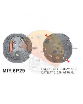 Movimiento Miyota 6P29 Equivalente 6P79