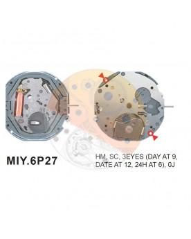 Movimiento Miyota 6P27 Equivalente 6P77