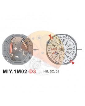 Movimiento Miyota 1M02 cal.3