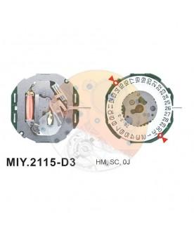 Movimiento Miyota 2115 cal.3