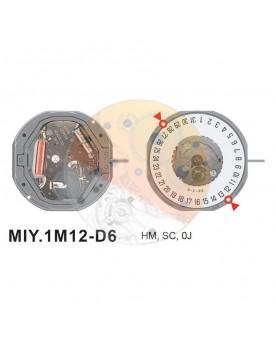 Movimiento Miyota 1M12 cal.6 Equivalente GM10-GM12