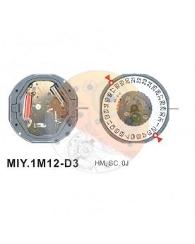 Movimiento Miyota 1M12 cal.3 Equivalente GM10-GM12