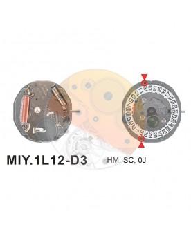 Movimiento Miyota 1L12 cal.3 Equivalente GL10-GL12