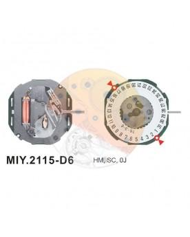 Movimiento Miyota 2115 cal.6