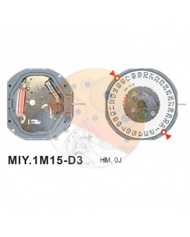 Movimiento Miyota 1M15 cal.3