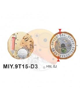 Movimiento Miyota 9T15 cal.3