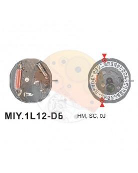Movimiento Miyota 1L12 cal.6 Equivalente GL10-GL12