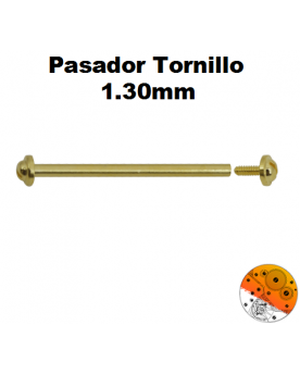 Pasador Tornillo Dorado