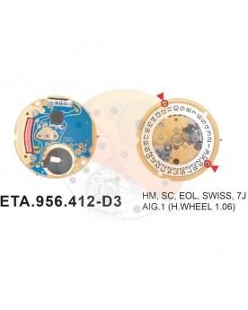 Movimiento ESA 956.412 cal.3