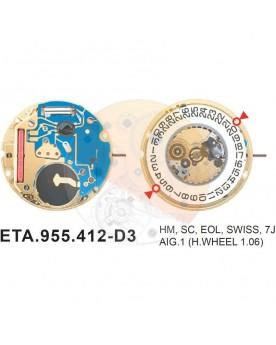 Movimiento ESA 955.412 cal.3