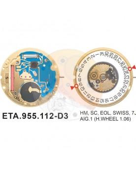 Movimiento ESA 955.112 cal.3